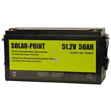 XENES ECO-Line 48V 50Ah LiFePO4 Smart-BMS Lithium Speicher 51,2V 2560Wh 2,5kWh