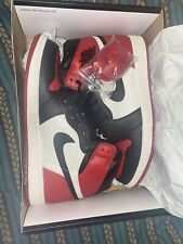 Air Jordan 1 Retro High Og Bred Toe Mens Shoes Size 10 Original Box 555088 610