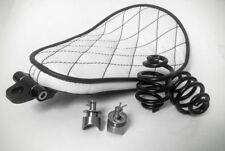Solo Kit Completo De Asiento Muelles & Soporte Harley Chopper Bobber blanco pesado deber