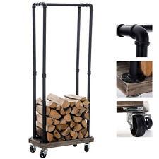 Kaminholzständer Forks Industrial Design Brennholzregal Metall 30x60x150 cm