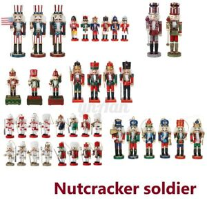More Wooden Christmas Nutcracker Soldiers Traditional Tree Decoration Ornaments