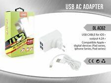 Caricabatteria Da Rete 4 Ingressi Usb 4.2A Cavo Iphone 7 8 X DL-AC62 mar