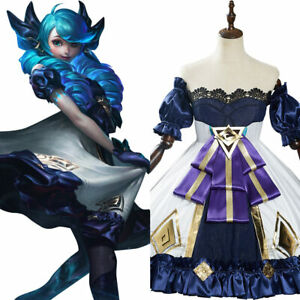 Game League of Legends LOL Gwen Cosplay Costume Outfits Halloween Carnival Suit