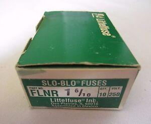 Box of 9 Littelfuse FLNR1-6/10 FLNR-1-6/10 Slo-Blo Fuses 250V 1.6A 1.6 Amps