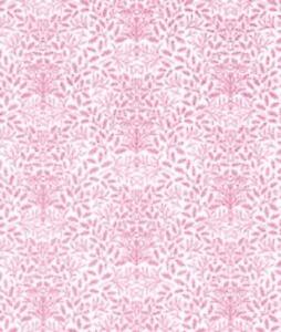 Casa de Muñecas William Morris Diseño Bellotas Rosa Medio Pulgada 1:24 a Escala