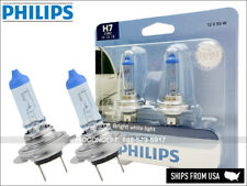 NEW! PHILIPS Crystal Vision Ultra H7 Xenon HID LOOK Headlight BULBS PAIR 4000K