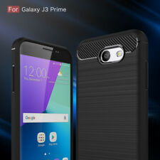 Carbon Fiber Texture Slim TPU Case For Samsung Galaxy J3 Prime SM-J327 J3 Emerge