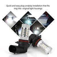2X 9006 HB4 LED Voiture LED Feu De Brouillard Phare Lampe Ampoule Lumière 6000K