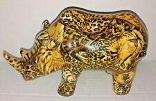 La Vie Rhinoceros Africa Safari Rhino ~ Animal Print Figurine ~ Free Shipping