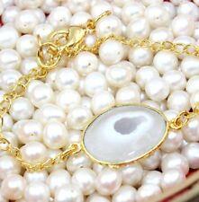 H5501 Sale Elite Natural Of White Solar Quartz 24k Gold Plated Bracelet Jewelry