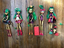 Monster High Dolls Jinafire Long freak, Swim class, Scaris, Gloom Bloom, Getaway