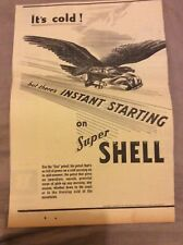 Vintage Advertisement - Shell Petrol - Australian - 1937
