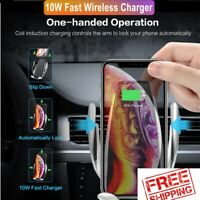 Automatic Clamping Qi Wireless Car Charger Mount Phone Holder Fast Charging Dock