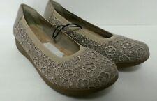 Women's Wearever Beige Camel Tan Slip On Comfort Shoes SZ 7 M Memory Sole 979