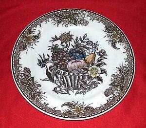 """Cheltenham Ltd China Dinnerware """"Fruit Basket"""" - Bread & Butter Plates - 6"""" Dia."""