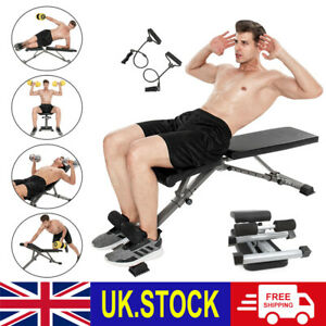 Foldable Dumbbell Bench Weight press Training Adjustable Incline Workout Gym UK
