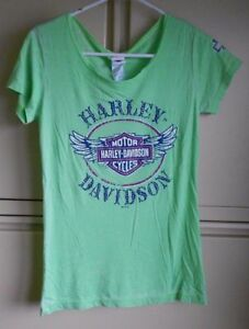 Harley Davidson Women's Green Dusty Shirt