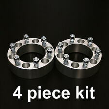 "4pc 2"" Wheel Spacers - 6x5.5 to 6x5.5 - 14x1.5 Studs - for Chevy GMC Trucks"