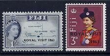 1963 FIJI ROYAL VISIT SET OF 2  MINT MM/MH SG326 SG327