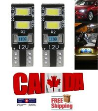 2x 4SMD White 6000k LED T10 194 168 Canbus Error Free Map Dome Plate Light Bulbs