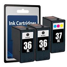 3 Ink Cartridges for Lexmark 36 &37 -X3650 X4650 X5650 X6650 X6675 Z2420