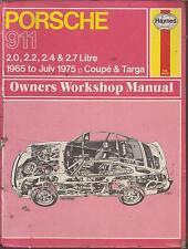 PORSCHE 911 2.0 2.2 2.4 2.7 COUPE & TARGA 1965 - 1975 OWNERS WORKSHOP MANUAL