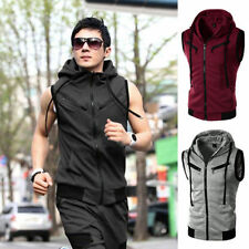 Unbranded Cotton Blend Zip Casual Waistcoats for Men