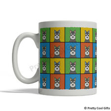 Miniature Schnauzer Dog Mug - Cartoon Pop-Art Coffee Tea Cup 11oz (Black/White)