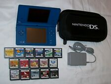 Nintendo DSi Blue w/ Padded Case, Charger & Stylus + 16 Games
