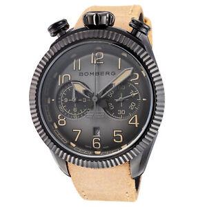 Bomberg Men's NS44CHPBA-200-9 BB-68 Vintage 44mm Gray and Black Dial Watch