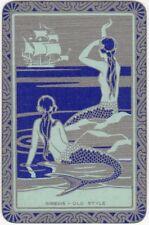 Playing Cards 1 Single Swap Card - Old Vintage SIRENS OLD STYLE Mermaid Mermaids