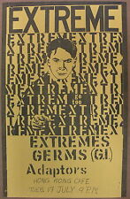 The GERMS Hong Kong Cafe 1979 US ORG CONCERT POSTER Darby Crash PUNK Extremes