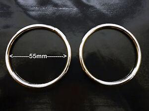 Metal Ring, Welded, 55mm / 2.25 inch Internal Diameter (2.5 inch External),Two