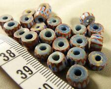 (10) Hudsons Bay Company Indian 4 & 5 Layer Chevron Glass Trade Bead 200 Yrs Old