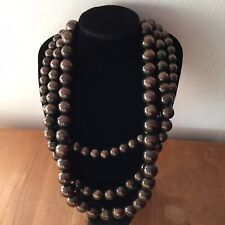 Linea Multi-Strand Glass Beads Retro 50s Style Necklace Smart Costume Jewellery