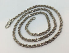 """Two Tone - Sterling Silver .925 Rope Chain Necklace 18""""  12.8G. #922"""