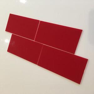 Rectangular Acrylic Wall Tiles - Red