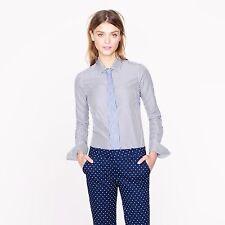 $150 THOMAS MASON FOR J.CREW 4 Perfect Shirt In Blue Stripe Style 65433
