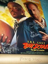 Signed The Last Bot Scout One Sheet Poster, Willis, Wayans, Berry