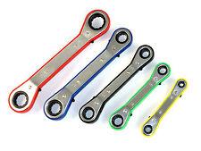 Ratschenschlüssel Satz Doppel Ringschlüssel Ringratsche 5 tlg Set 6 - 21mm