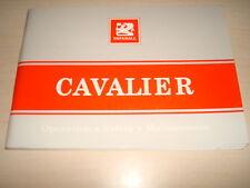 VAUXHALL CAVALIER 4 y 5 Puerta usuario manual octubre 1988 TS 1237-c-89