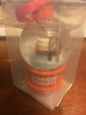 New Dunkin Donuts Mini Winter Snow Globe Holiday Ornament Style 2 of 2
