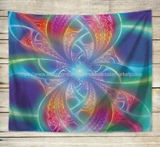 blanket mat wall decor psychedelic trippy art wall tapestry
