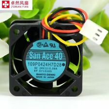For Sanyo 109P0424H7D28 4015 40mm x15mm Fan 24V 0.08A 3Pin 441