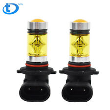 2X 9006 HB4 100W  2323 LED 4300K YELLOW Fog Driving Light Bulbs USA