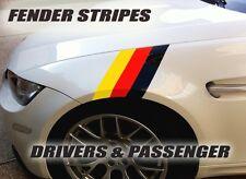 German Flag Fender Vinyl Stripes, Decals fits E39,E46,E92 330i fits any 2dr 4dr