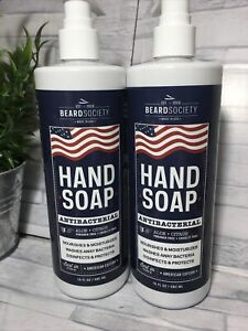 Beard Societ Hand Soap Aloe Citrus Anti Germ Hand Soap Lot/2 16oz Each