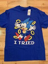 Sonic The Hedgehog - Sega - Mens L - Royal Blue T-Shirt - New With Tags - 90's