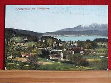 Farbkarte - Krumpendorf am Wörthersee - gel 1916 nach Portorose - Kärnten