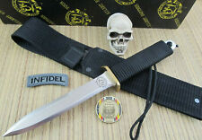 EK Commando Knives Vintage Collector PB-3 Dagger Fighter Original Black Sheath